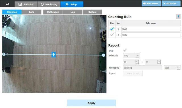Виртуальная линия в поле зрения камеры с обычным объективом