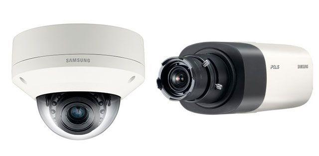 IP-камеры — вандалостойкая купольная Wisenet SNV-6084R и модель стандартного исполнения Wisenet SNB-6004