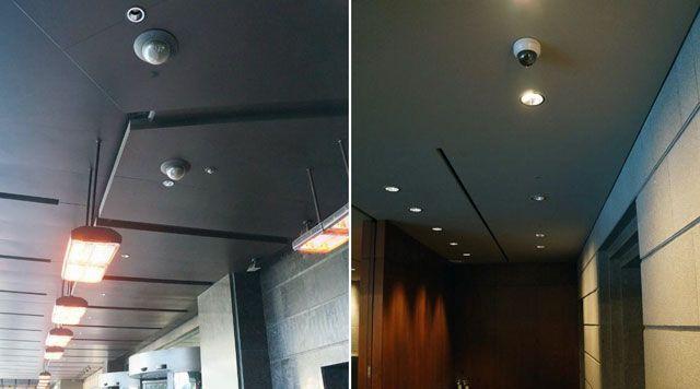 Камеры Wisenet SNP-6201H в вестибюле и SND-6084 в коридоре