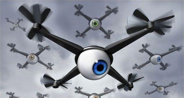 Беспилотные летательные аппараты (БПЛА) объединяются в рои