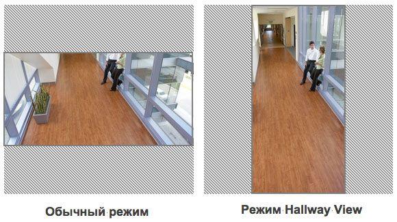Hallway View — видеонаблюдение для коридоров и вертикально вытянутых сцен